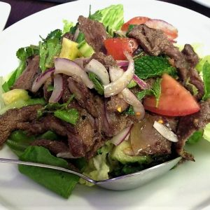 Spicy and sour Thai beef salad