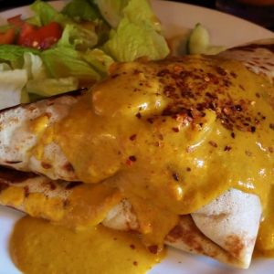CHICKEN MASALA CREPE, spicy version available