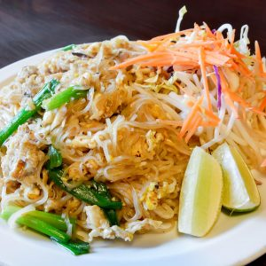 Real crab meat with mountain of noodle.