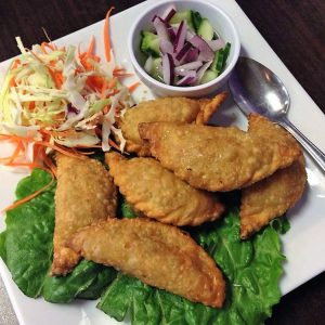 Another popular Thai appetizer. Thai curry puff.