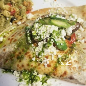 If you love grilled vegetable inside the crepe. Greek is your choice.