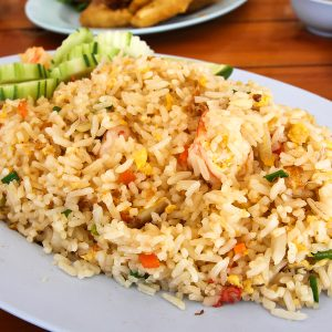 Regular and popular Thai fried rice.