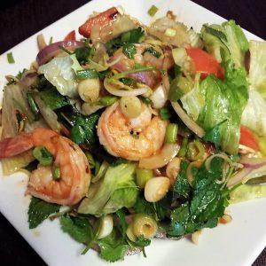 Spicy shrimp Thai salad.
