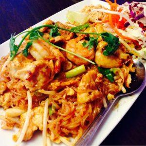 Thai most popular noodle dish. Pad Thai.
