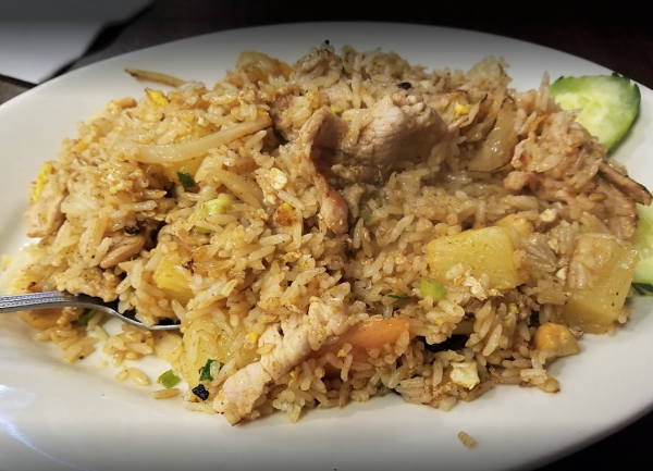 Pineapple Fried Rice Thai Food Favorite.