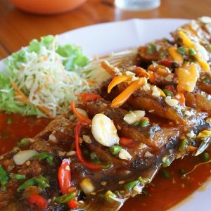 Spicy Thai Tilapia fish.