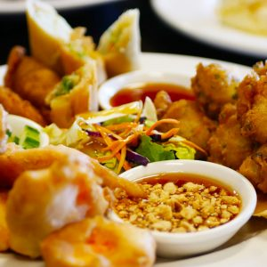 A little bit of every popular Thai appetizer we have.