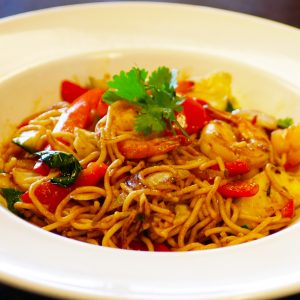 Fusion Thai food only at Le Moose Cafe Fremont.