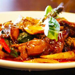 Thai Spicy Lamb with Thai herbs